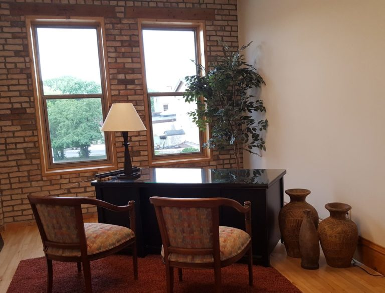 The Jerome has 20 private office suites available for rent on the second level.