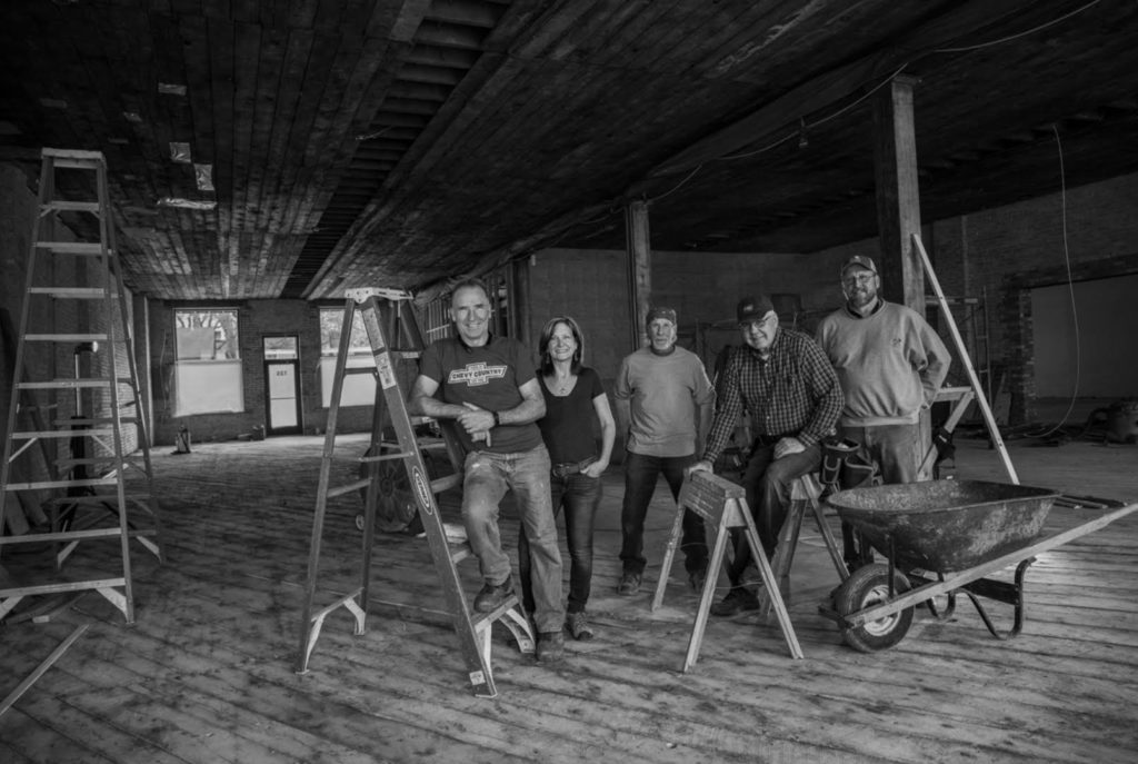 As a general contractor, Dale Graunke lead the renovation project, with Lynn Graunke and a handful of trusted craftsmen working alongside him for seven years to carefully and thoughtfully restore The Jerome Event Center.